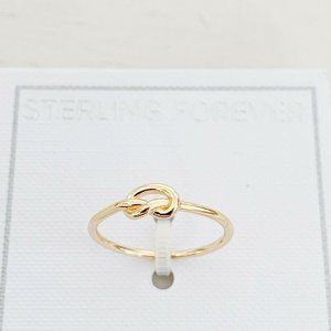 NWT Sterling Forever Infinity Ring 14K Gold Size 6